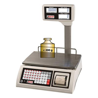 Memorizar pesada menor a 200g en ticket de balanza Bacsa WPP 30kg